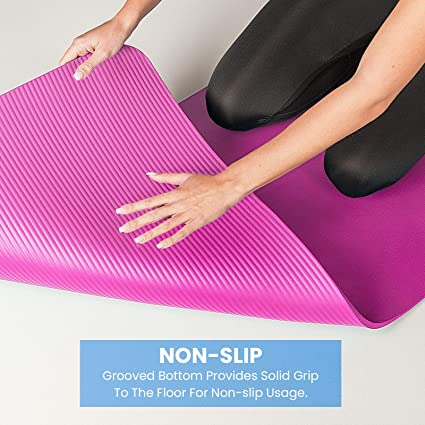 Grand débutant Tapis De Yoga Exercice Fitness Pilates Class Pad Non Slip Latex