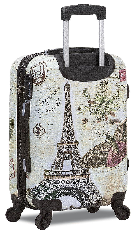 Paris New Dejuno Print Polycarbonate Hard Shell Luggage Set