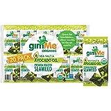 gimMe Organic Roasted Seaweed Sheets - Sea Salt & Avocado Oil - 20 Count - Keto, Vegan, Gluten Free - Great Source of Iodine