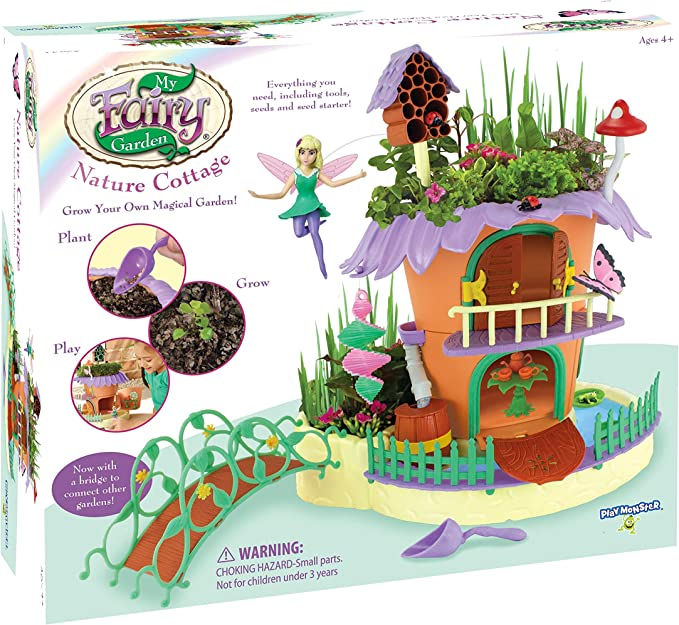 Amazon Com My Fairy Garden Nature Cottage Grow Play Set Toys