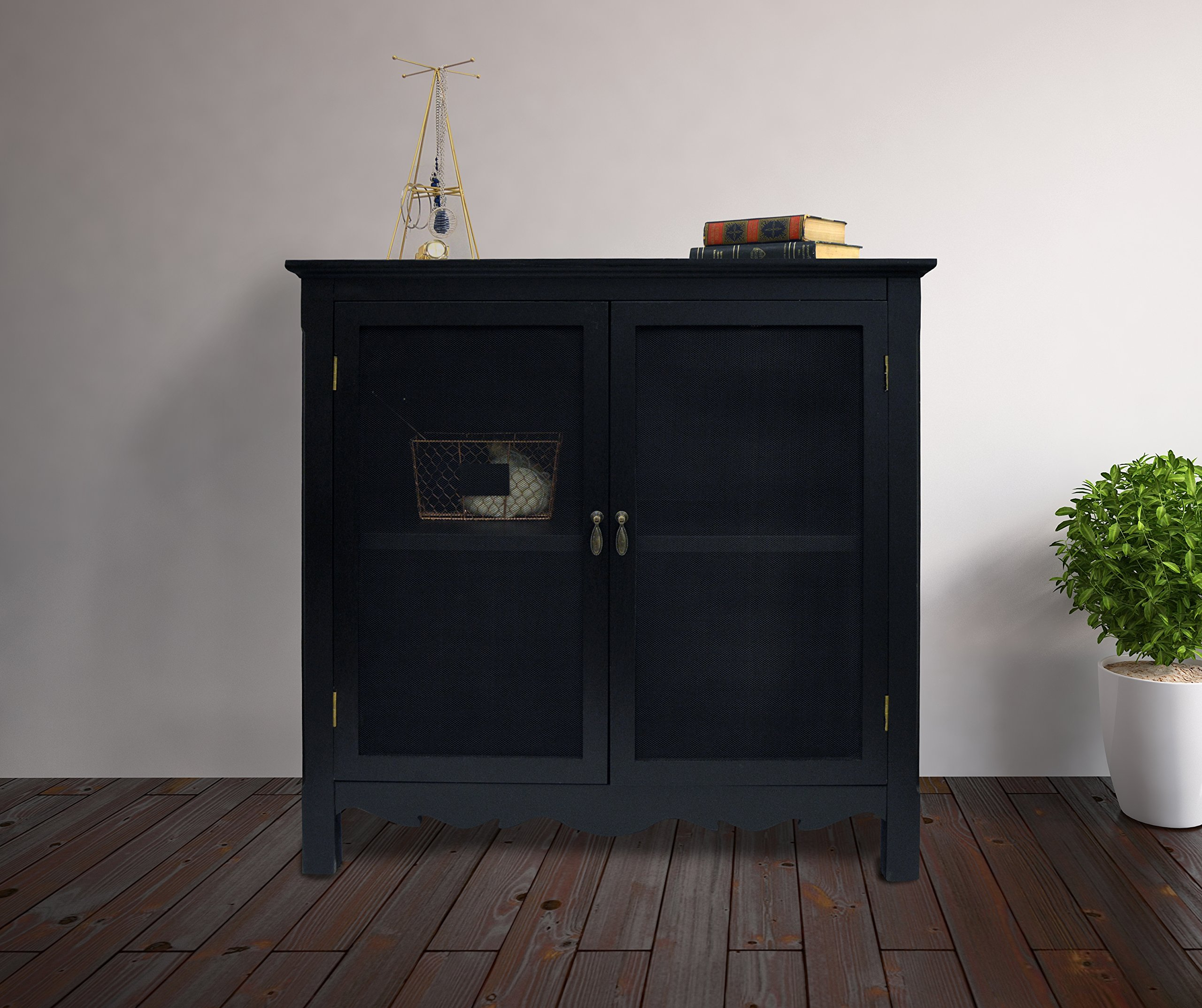 BLACK CHARLESTON CABINET by Haven Home Décor (Image #2)