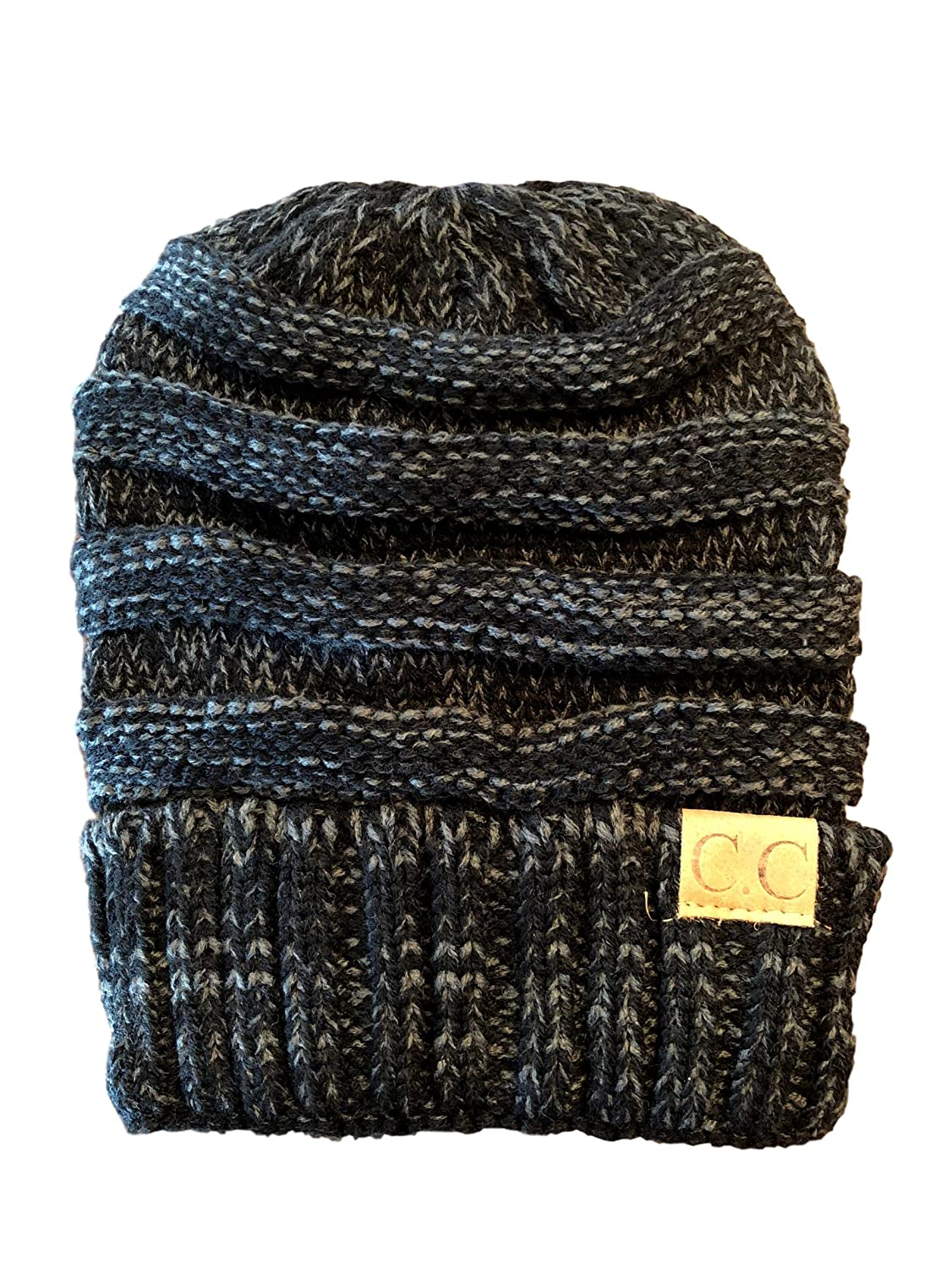 Black Grey Fleck Women's, Teen's, Kids, CC Style Knit Winter Hat