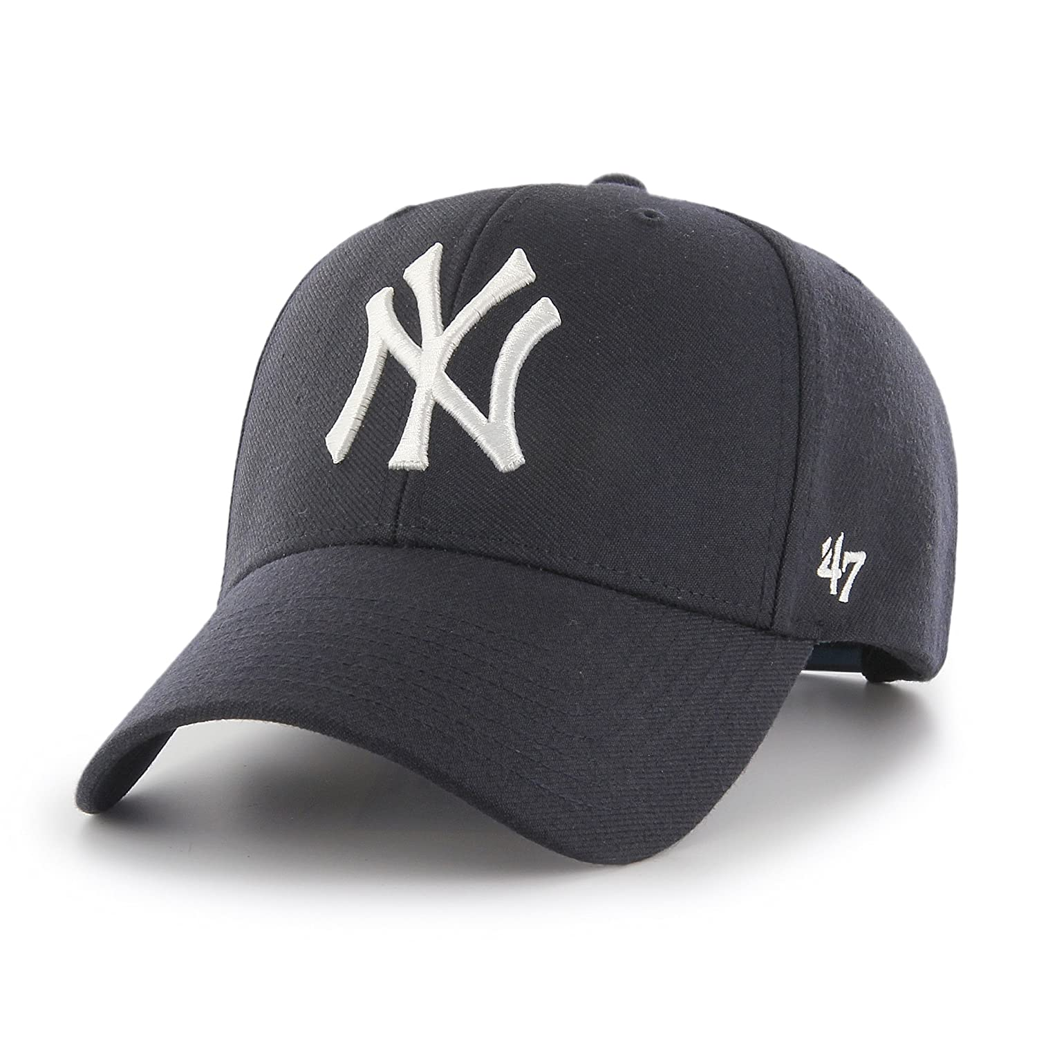 Amazon.com   47 Forty Seven Brand MVP New York Yankees Curved Visor Snapback  Cap Navy MLB Limited Edition  Clothing b49c15a3287