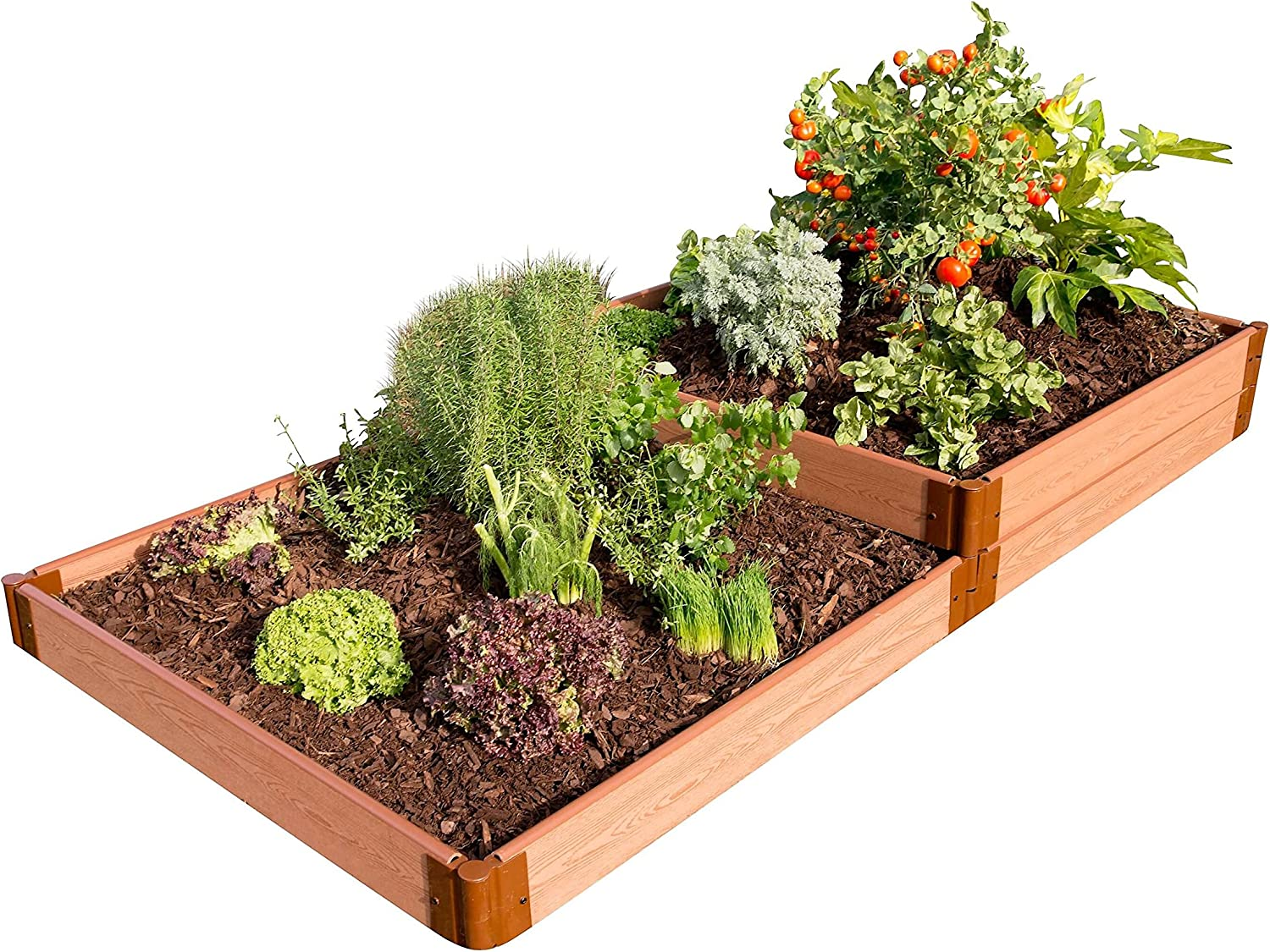 Amazon Com Frame It All Tool Free Classic Sienna Raised Garden Bed Terraced 4 X 8 X 11 2 Profile Garden Outdoor