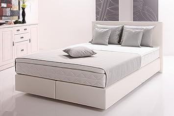 Moebel Guenstig24.de Funktionspolsterbett Mars Boxspringbett Doppelbett  Polsterbett Schlafzimmer 120 X 200 Cm Weiß