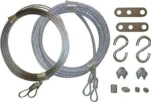 Puerta de garaje Cable Replacement Kit. Dos 3/32