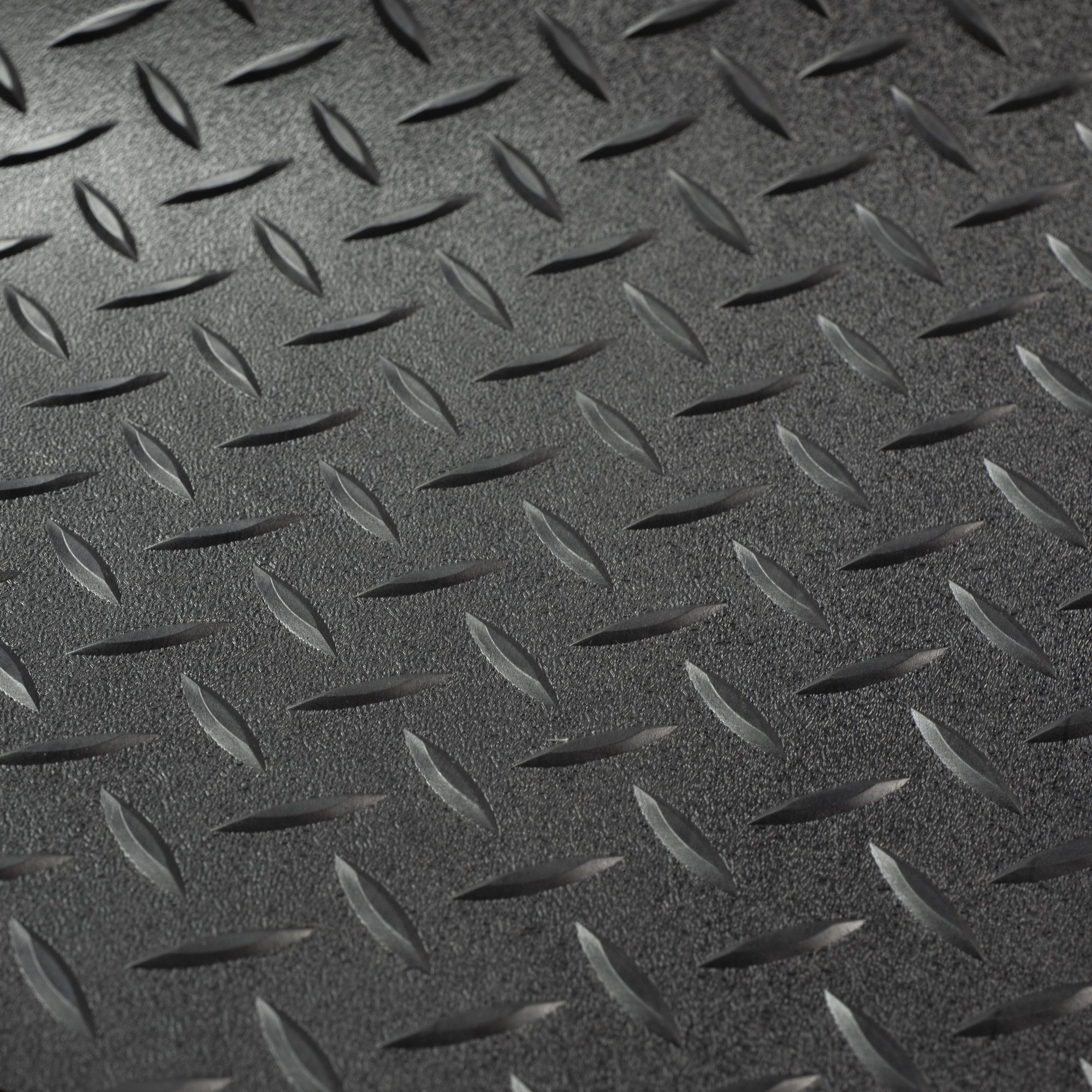 RV Trailer Diamond Plate Pattern Flooring | Black | 8' 2'' Wide | Rubber Flooring | Garage Flooring | Gym Flooring | Toy Hauler Flooring | Car Show Trailer Flooring (Black, 15') by RecPro (Image #1)