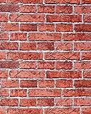 Papier peint design vintage rustique EDEM 583-24 aspect mur de briques | bricks | brix rouge brique rouge rouge-terre