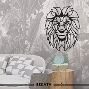 Bekata Lion Head African Lion Metal Wall Art Metal Wall Decoration For Home Office Living Room Bedroom (Medium Size 28'' x 34'' inches (71 cm x 87 cm))