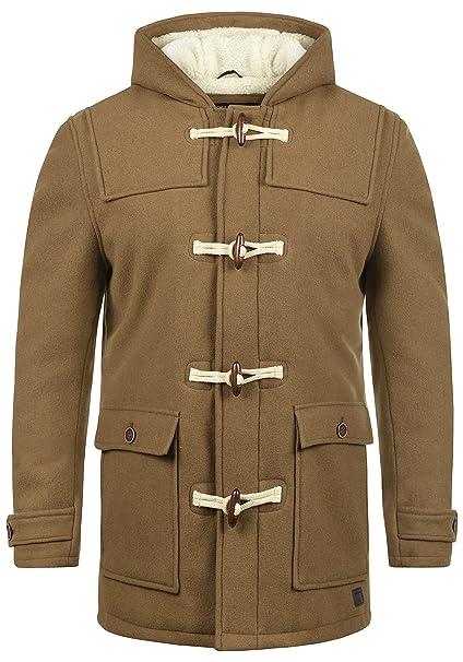 52c45e65f77d INDICODE Columbia Men's Woll Coat Outdoor Jacket Dufflecoat With Teddy  Fleece With Hood With Teddy Fur Lining