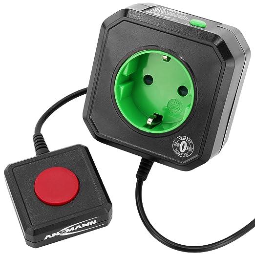ANSMANN Steckdosenadapter energiesparend AES3 / Schaltbare Steckdose programmierbar für PC, Computer & PC Zubehör / Mühelose