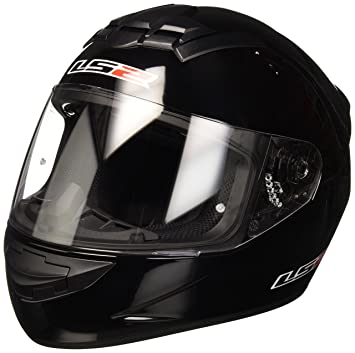 LS2 103521012XS FF352 Casco Rookie Solid, Color Negro, Tamaño XS