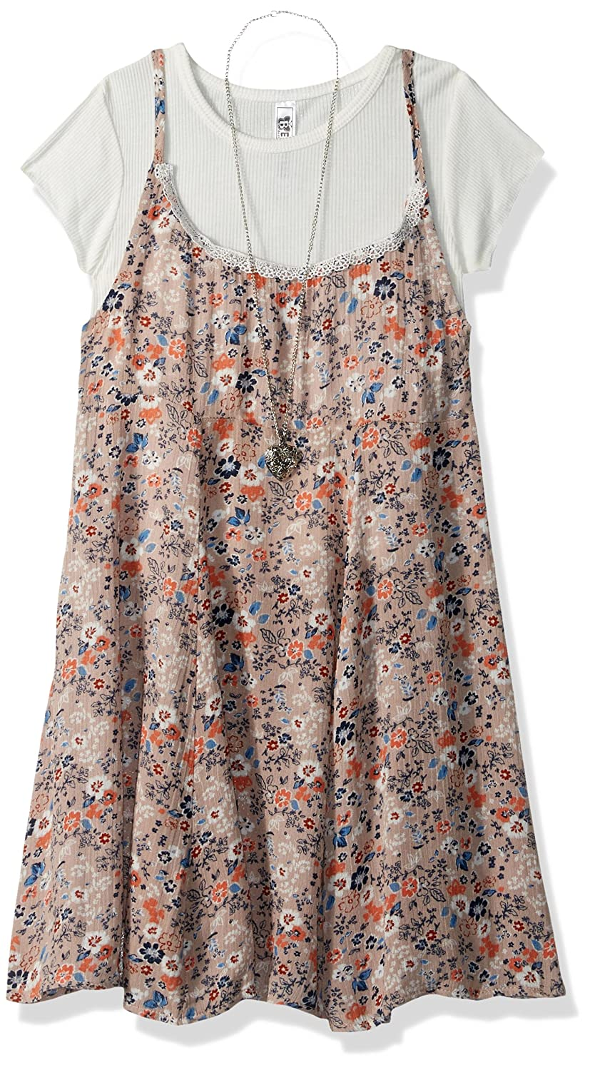 4dcab0ca0 Top2: Beautees Big Girls' 2 Piece Sleeveless Print Swing Dress with Crop Top