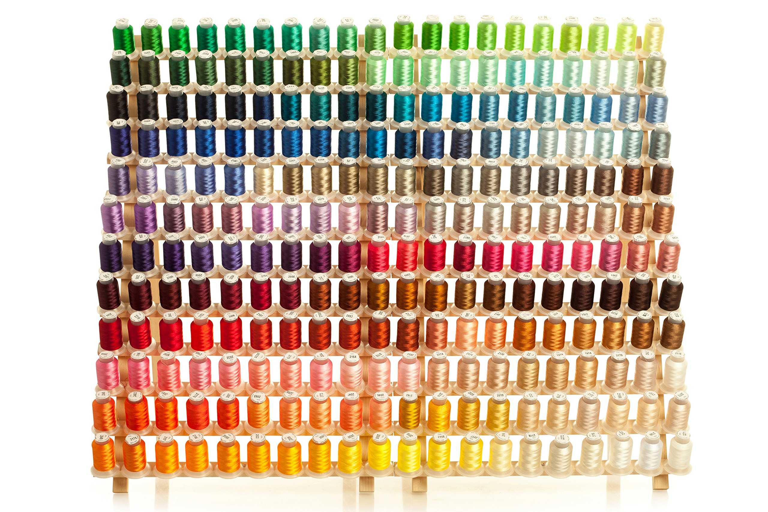 Mega Kit 260 Spools Polyester Embroidery Machine Thread by Kolors Embroidery