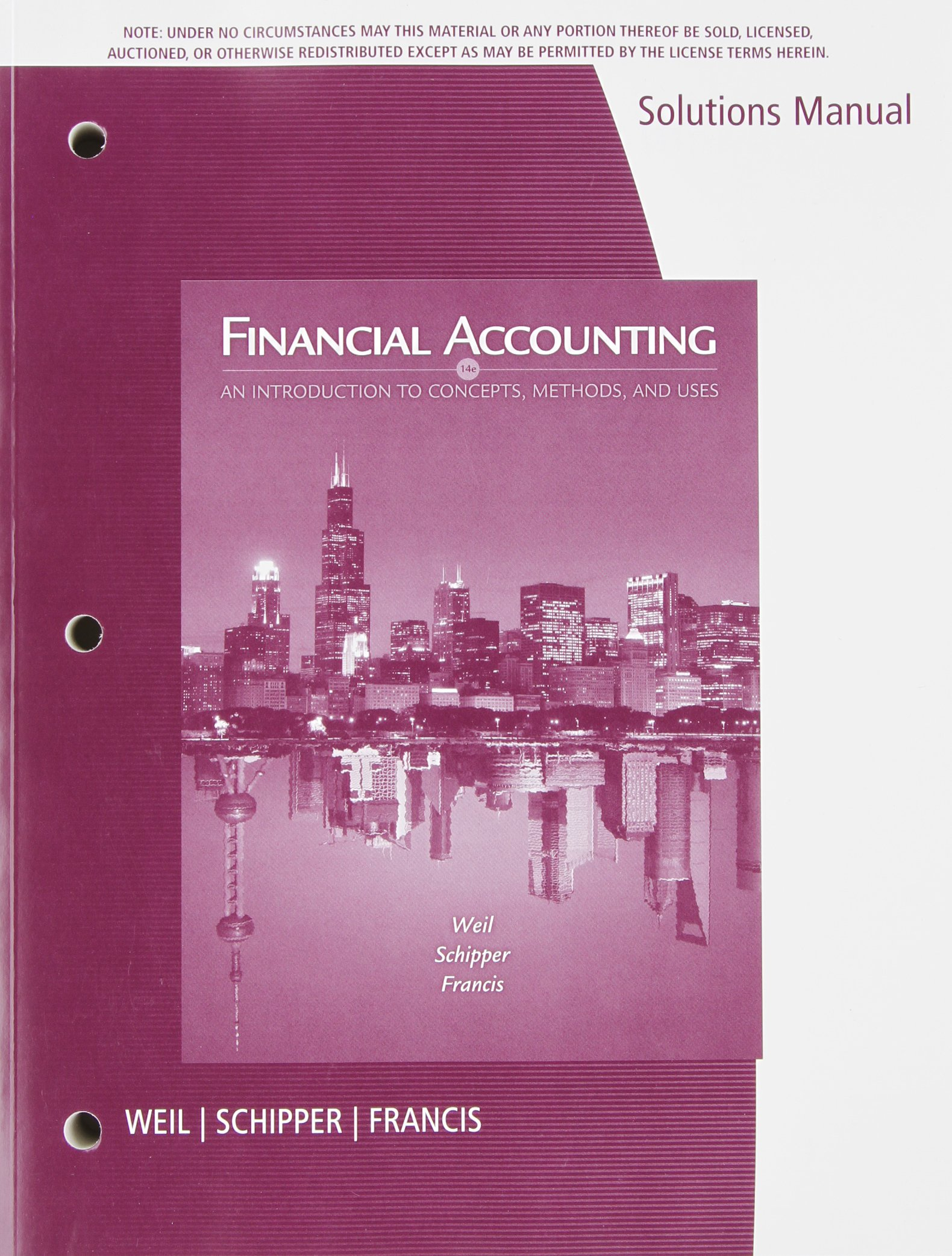 FINANCIAL ACCOUNTING-SOLUTIONS: Roman L. Weil (Author), Katherine Schipper  (Author), Jennifer Francis (Author): 9781133372493: Amazon.com: Books