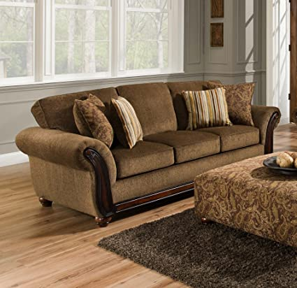 Amazon Com Used Sofas Couches Living Room Furniture >> Amazon Com Chelsea Home Furniture Fairfax Sofa Cornell