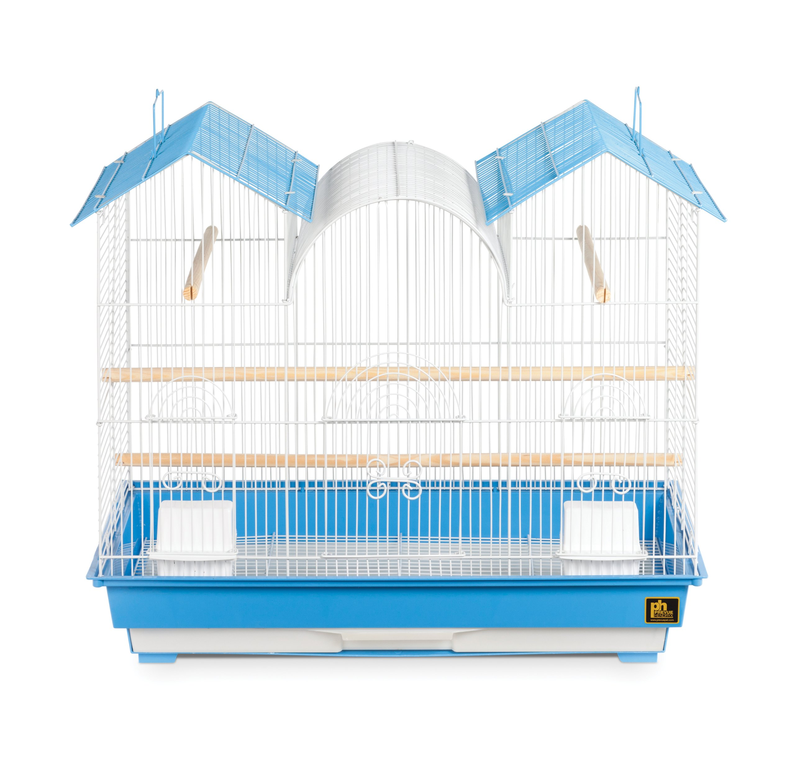 Prevue Hendryx Triple Roof Cockatiel Cage, Blue and White by Prevue Hendryx