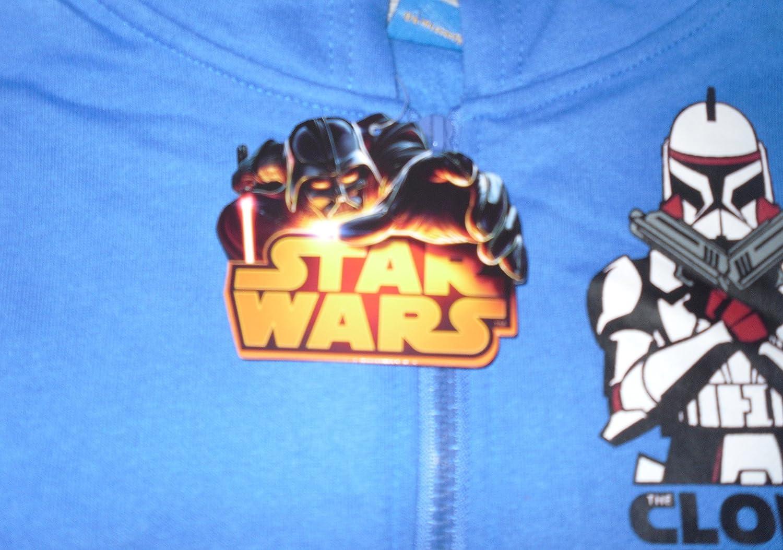 Star Wars Boys Jacket Hoody Official Clone Wars Blue