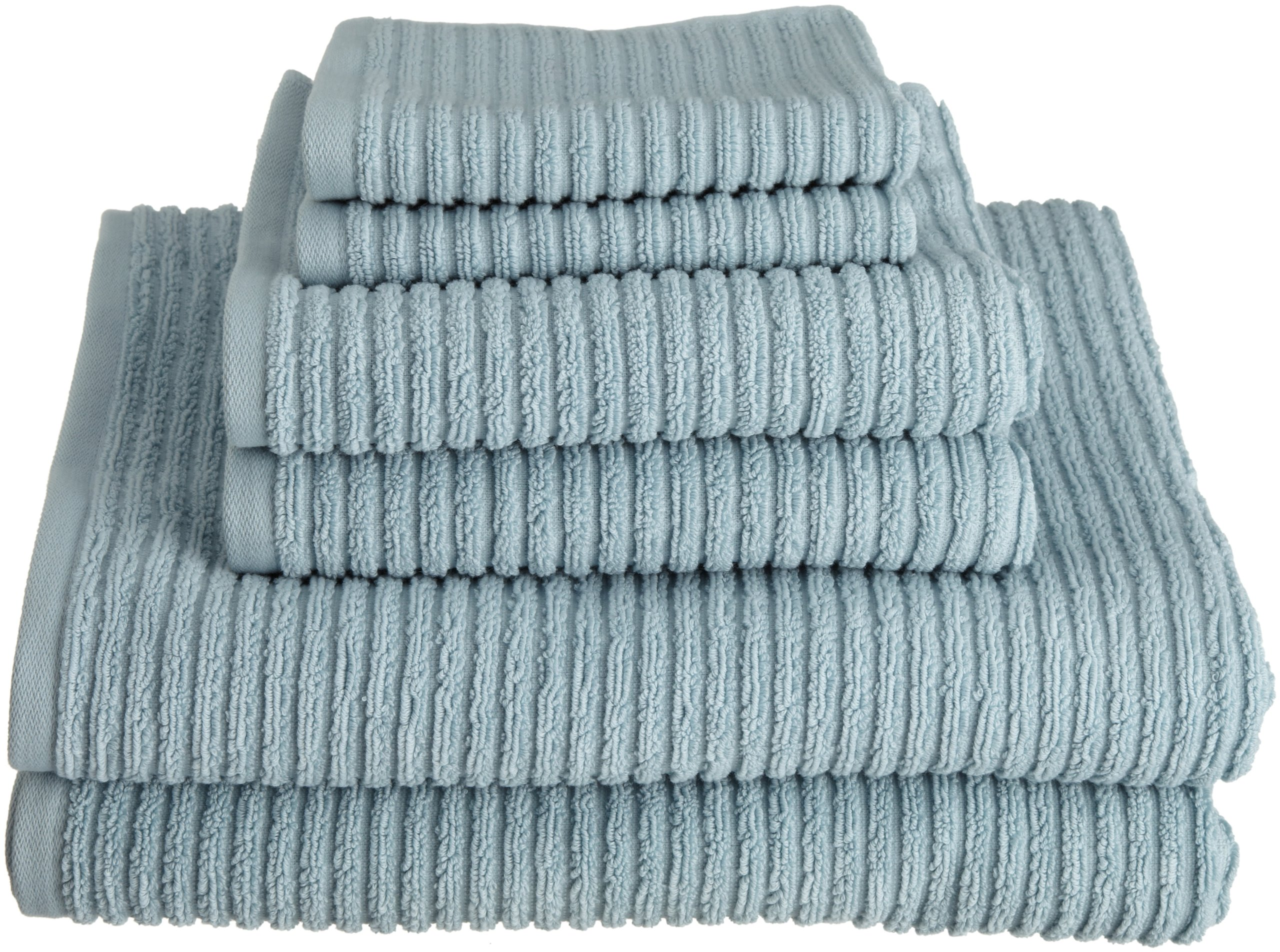 Kassatex 100-Percent Combed Extra Long Staple Turkish Cotton from our Urbane Collection 6-Piece Solid Towel Set, Spa Blue