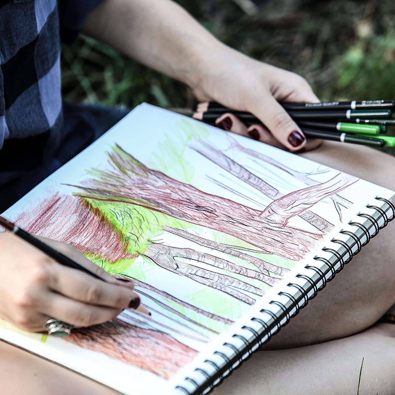 Super Zubeh/ör f/ür den Kunstunterricht vorgespitzt f/ürs Zeichnen und f/ür Malvorlagen f/ür Malb/ücher f/ür Kinder /& Erwachsene 48 Farben 48 Premium-Farbstifte Colore Buntstifte