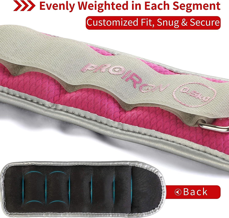 Jogging PROIRON Poids de Poignet Poids pour Cheville 4 Variantes 2X 0,5kg Marche 2X 2,0kg Poids r/églable /à la Cheville pour Remise en Forme Exercice