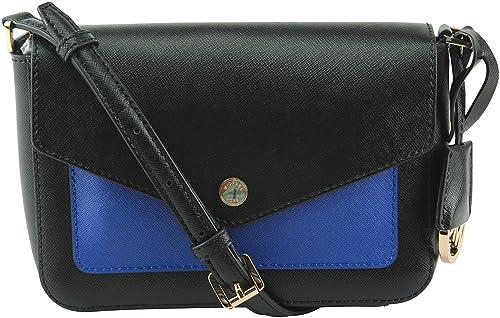 48d446da8f5b Image Unavailable. Image not available for. Color: MICHAEL Michael Kors  Womens Greenwich Color Pkt Crossbody Handbag Black Small
