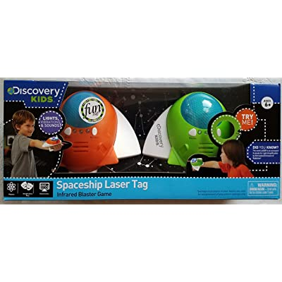 Spaceship Laser Tag 2 Player 2 Spacecraft Set Orange and Green - Parents' Choice Award-Imaginative Play Electronics Physics: Toys & Games