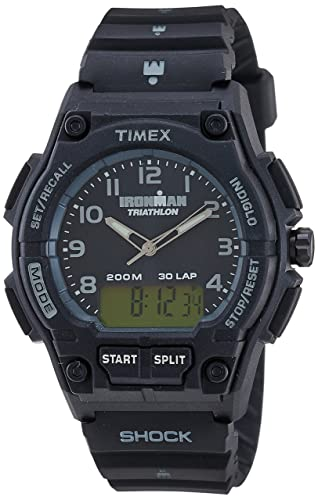 Timex Quarz T5K202SU - Reloj de caballero de cuarzo, correa de resina color negro (