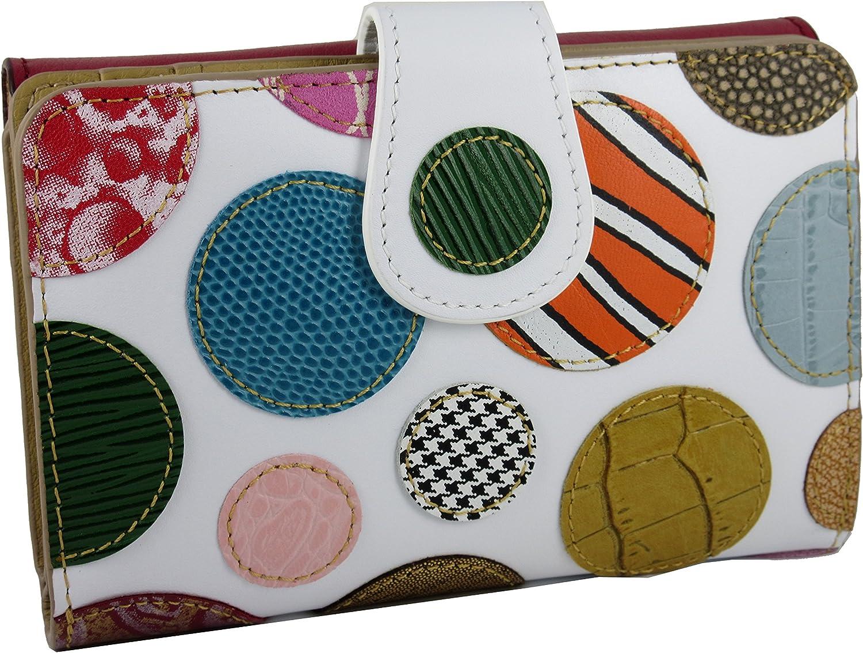 Handmade in Spain Portefeuille Porte-monnaie Femme Cuir V/éritable Grande Capacite Design Original