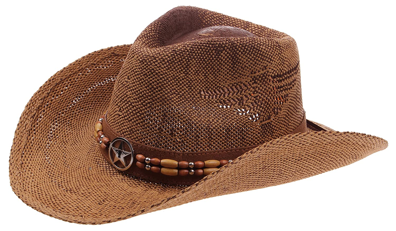 9e95a7471835f Enimay Western Outback Cowboy Hat Men s Women s Style Straw Felt Canvas  SW-3630D-BK