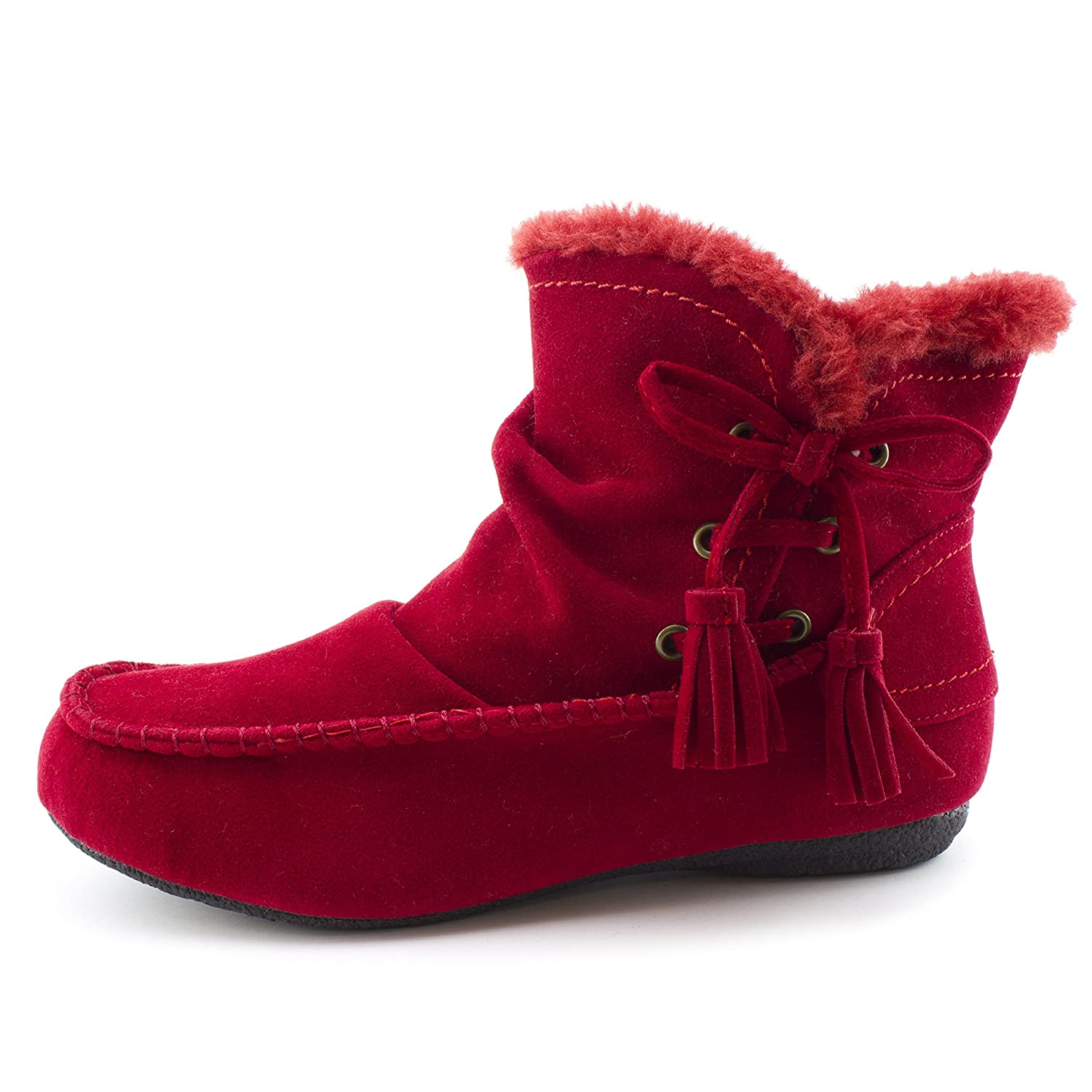Women's Faux Suede Fur Insulation Size Zipper Ankle Booties (Adults)