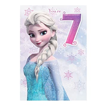 Amazon Hallmark Disney Frozen Elsa 7th Birthday Card You Rule