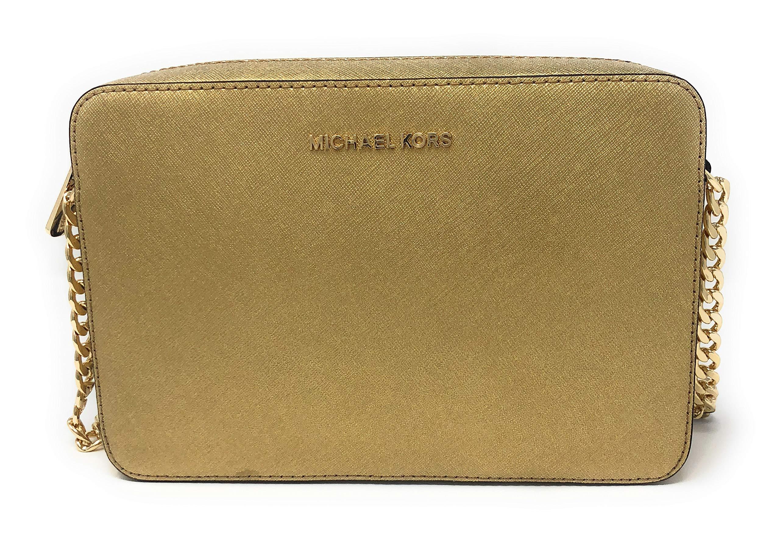 Michael Kors Jet Set Item Large East West Crossbody Shoulder Bag Black (Gold)