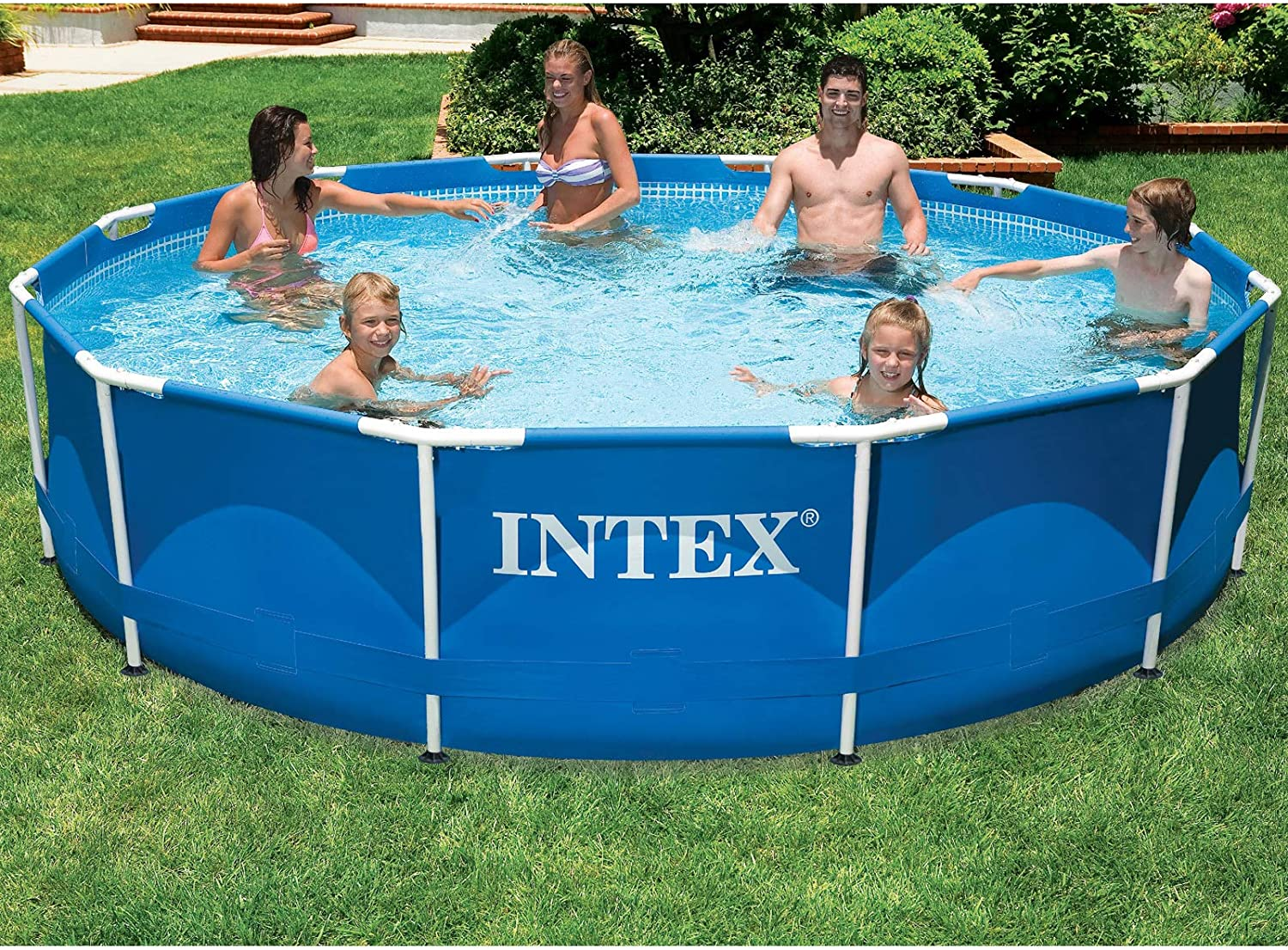 Intex 28214 Frame Pool - Piscina (366 x 84 cm): Amazon.es: Jardín