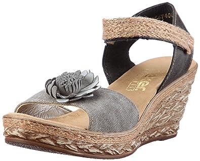 bc142d455775 Rieker 69464-45 Fashion Sandals Womens Gray Grau (smoke stein 45 ...
