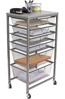 Internetu0027s Best 6 Tier Rolling Cart Organizer | 4 Small 2 Large Drawers |  Classroom