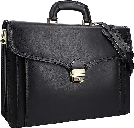 Gusti Aktentasche Leder Owen Businesstasche Umhängetasche Ledertasche Laptoptasche Arbeitstasche Aus Italienischem Schwarz Leder Koffer Rucksäcke Taschen