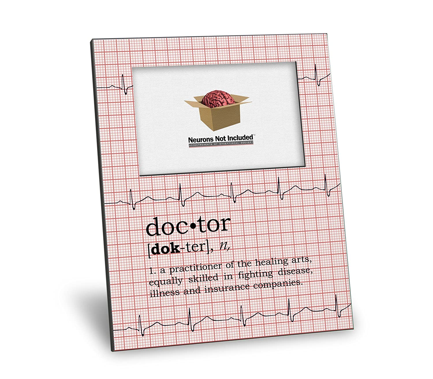 Doctor Definition Picture Frame - Personalization Available - 8x10 Frame - 4x6 Picture - Gloss White Finish