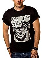 Musique T-Shirt Homme ROCK GUITARE Noir S-XXXL