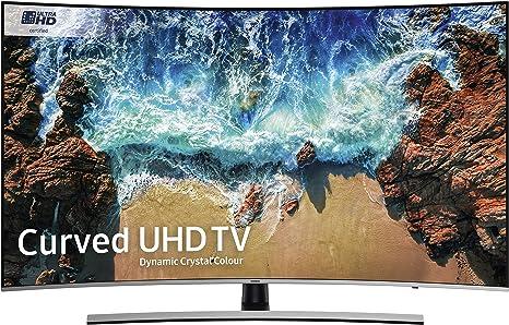 "UN55NU8500FXZA Samsung UN55NU8500 55/"" Silver Curved UHD 4K HDR LED Smart HDTV"