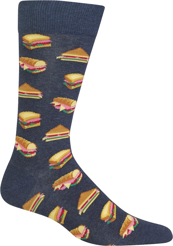 Hot Sox Men's Sandwiches Socks