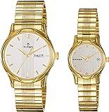 Titan Bandhan Analog Champagne Dial Couple's Watch -NK15802490YM04
