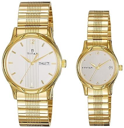 Bandhan Analog Champagne Dial Couple's Watch -NK15802490YM04