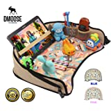 Toddler Car Seat Travel Tray by DMoose (16-Inch-by-13-Inch) – Reinforced Solid Surface, Sturdy Side Walls, Strong Buckles, Mesh Pockets – Waterproof Snack, Play & Learn Tray