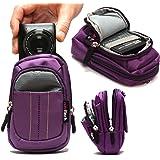 Navitech housse étui violet pour appareil photo numérique Nikon Coolpix AW120 / Coolpix AW130 / Coolpix L29 / Coolpix L30 / Coolpix L31 / CoolPix P340 / CoolPix S2800 / CoolPix S2900 / CoolPix S32 / CoolPix S33