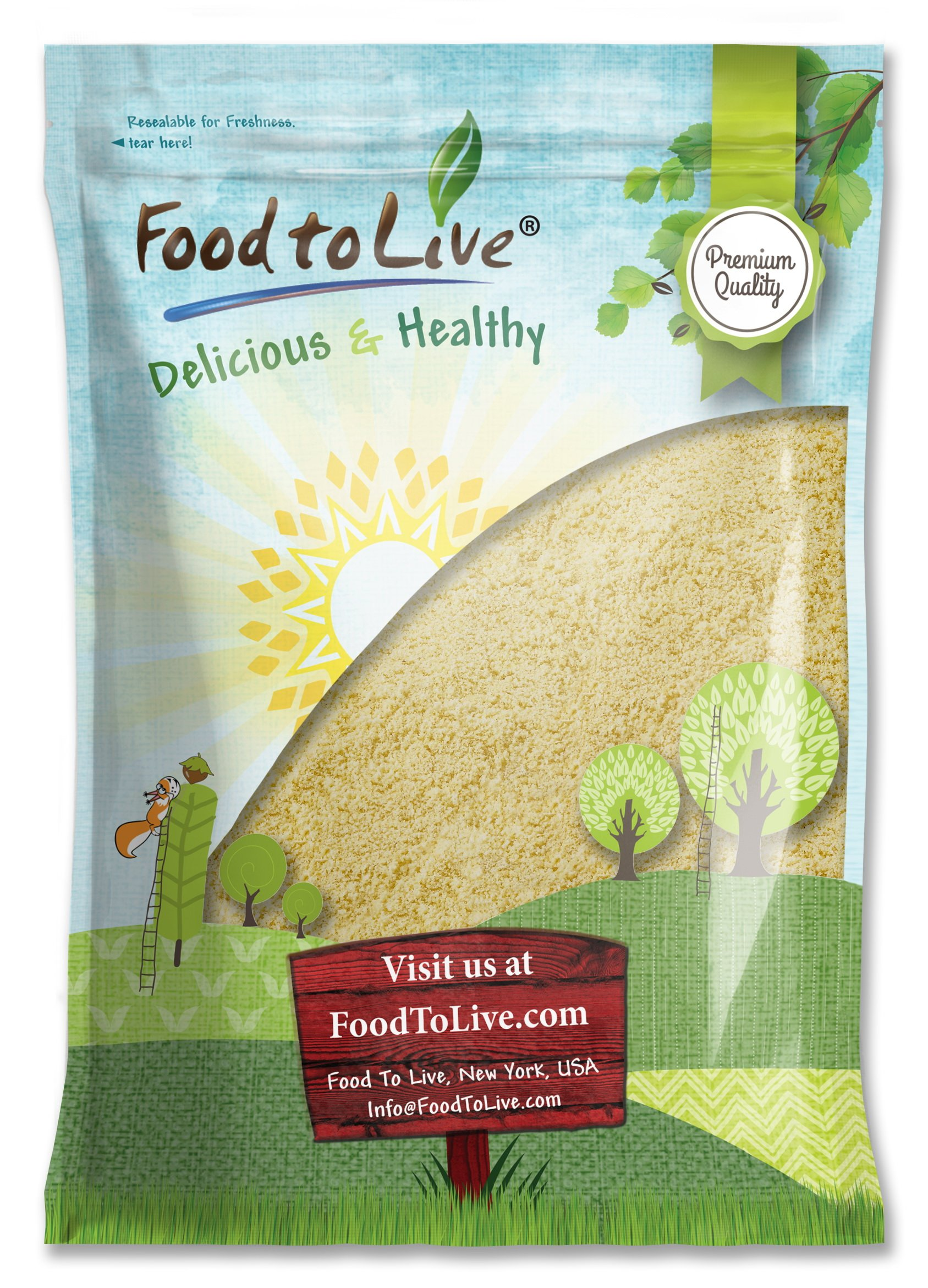 Blanched Almond Flour by Food To Live (Super Fine Grind Powder, Raw Skinless Almonds Meal, Kosher, Bulk) — 8 Pounds)