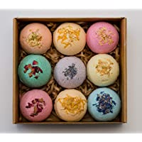 Pangolin House 9 Organic and Natural Bath Bomb Gift Set. Australian Handmade Fizzies for Bubble Bath. Rich in Essential…
