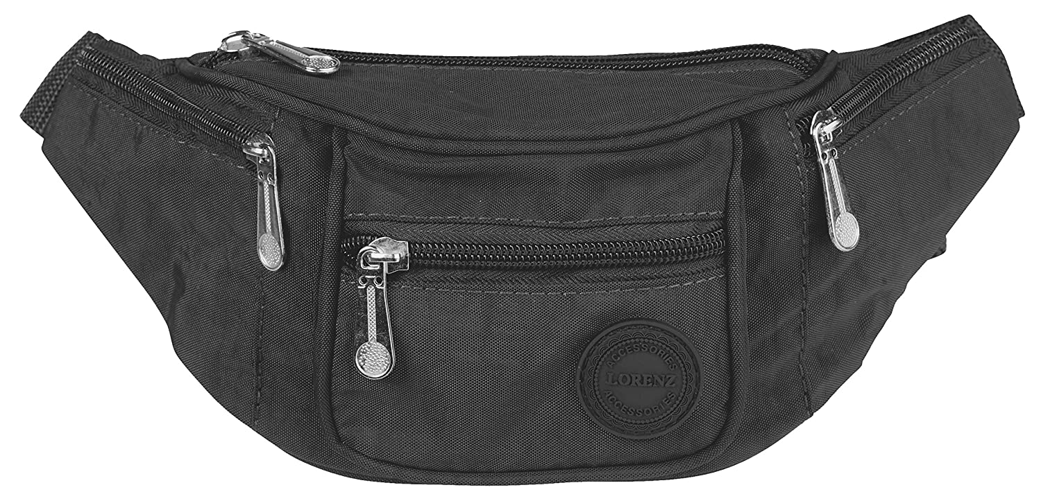 Lightweight Bumbag Waist Bag for Men & Women Holiday Festival Ibiza Various Colours & an Exclusive Larissa & Co Leather Keyring GHS