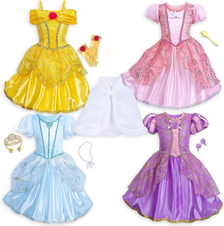 Amazon Com Disney Princess 10 Piece Wardrobe Set Size 5 6 Multi
