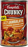 Campbell's Chunky Soup, Jazzy Jambalaya with Chicken, Sausage & Ham, 18.6 Ounce (Pack of 12)